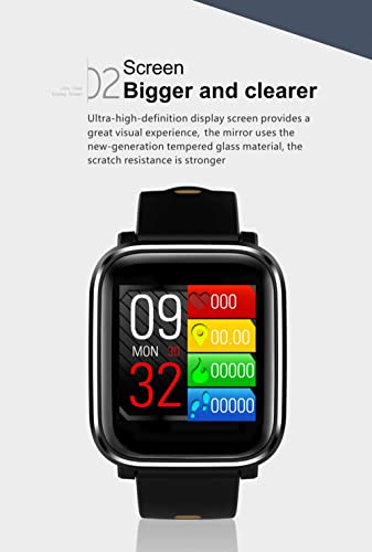 Amazon.com: Bond Q58 Smart Watch 3D Dynamic UI Blood Pressure Heart Rate Monitor Sport Fitness Tracker Smart Health Wearable Device Smartwatch (BLACK): Cell ...