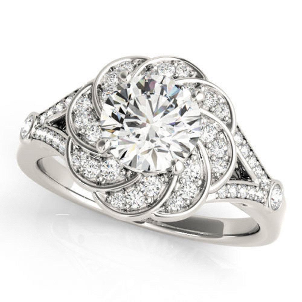 Huge 0.97 ct J-K Moissanite Engagement wedding Ring 925 Sterling Silver