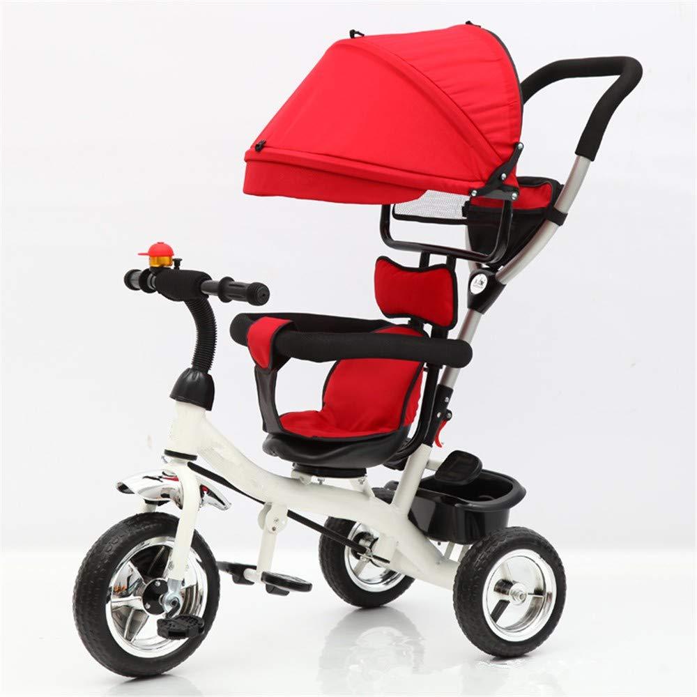 AERTYUIOG Carro De Bebé Triciclo de niños/Fábrica Venta al por mayor Triciclo de Niño/Bicicleta de Niño/Bebé Bebé Tres Rondas, Gules: Amazon.es: Bebé