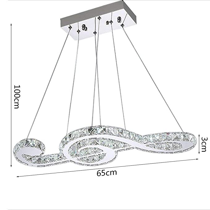 Amazon.com: Chandelier K9 LED Musical Note Plan Modern ...