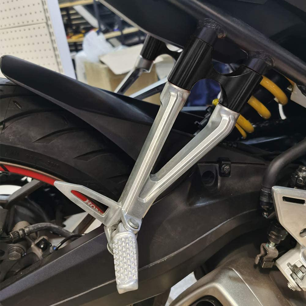 Motorrad Fu/ßst/ützen Verl/ängerung Hinten f/ür Honda CB650R CB650R 2019 2020-Schwarz