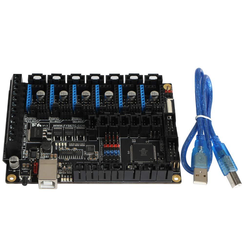 carte m/ère originale F6 All-in-one Contr/ôleurs /électroniques jusqu/à 6 pilote de moteur avec micro pas facile VS SKR V1.3 pour Reprap Wanhao i3 Prusa Anet A8 CNC FYSETC Carte m/ère pour imprimante 3D