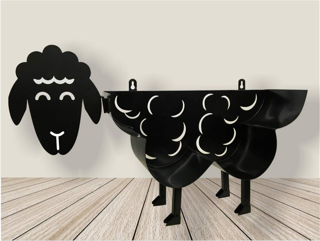 Cute Black Sheep Toilet Paper Roll Holder - Cool Novelty Free Standing or Wall Mounted Toilet Roll Tissue Paper Storage Stand & Holder | Bathroom Floor Decor Accessories | Best Gifts Idea - Neat Sheep by NeatSheep (Image #3)