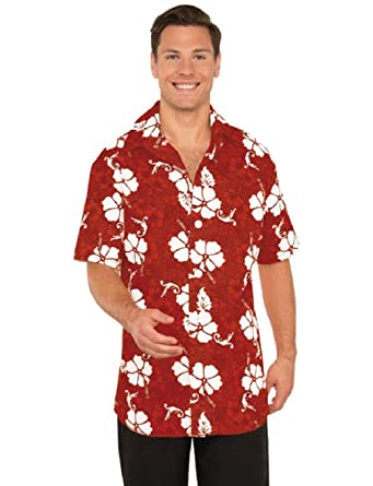 eaf2bb6f44d6 Image Unavailable. Image not available for. Color: Men's Hawaiian Tourist  Floral Button Front Shirt Costume
