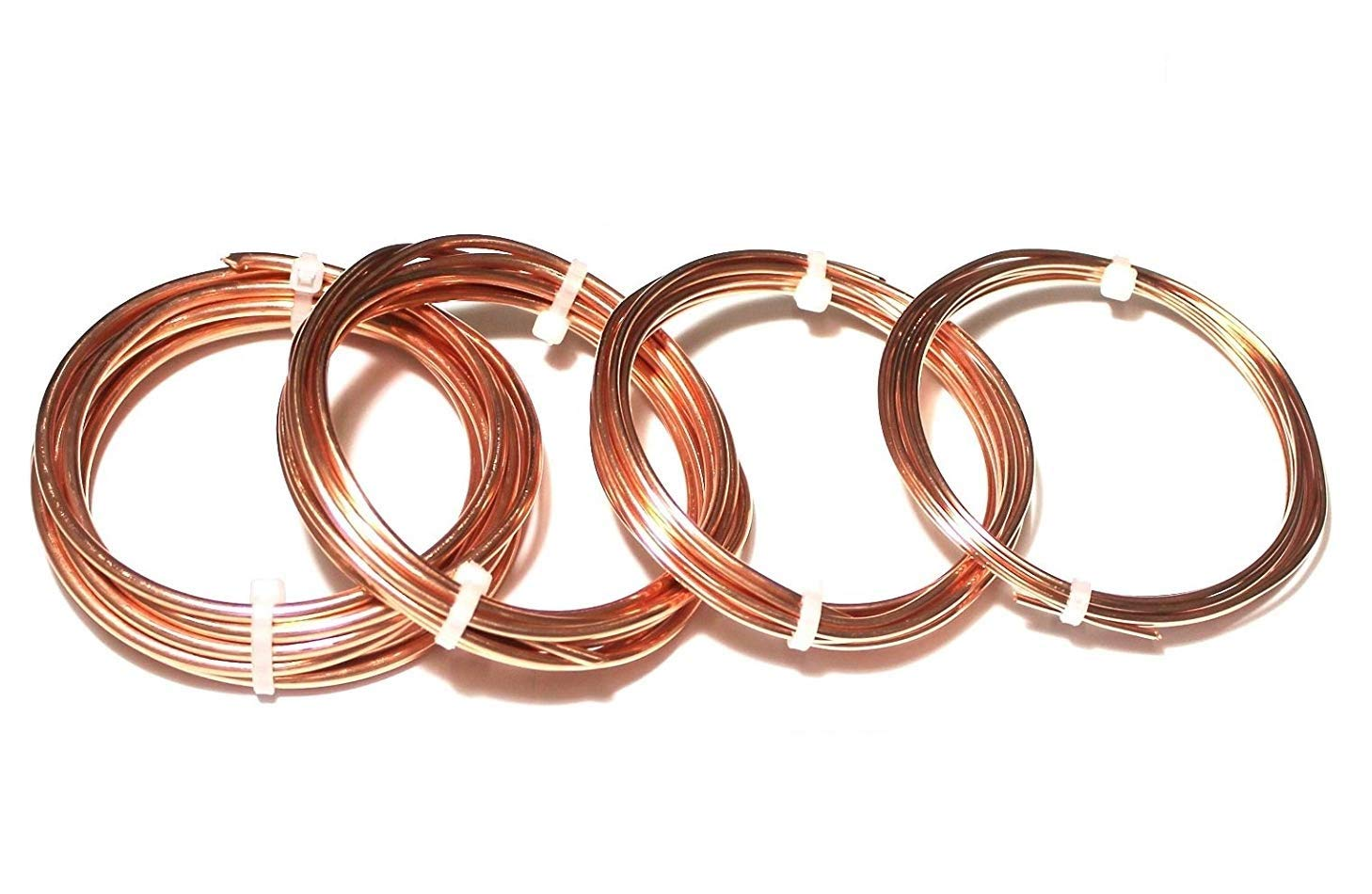 Copper Wire Dead Soft 10,12,14,16 Ga - 4 Assorted Sizes 5 Ft. Each by Copper wire USA