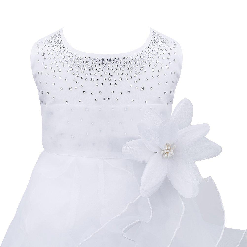 iEFiEL Babybekleidung Baby M/ädchen Kleid Blumenm/ädchen Festliches Kleid Taufkleid Hochzeit Organza Party Kleid 62 68 74 80 86 92 98