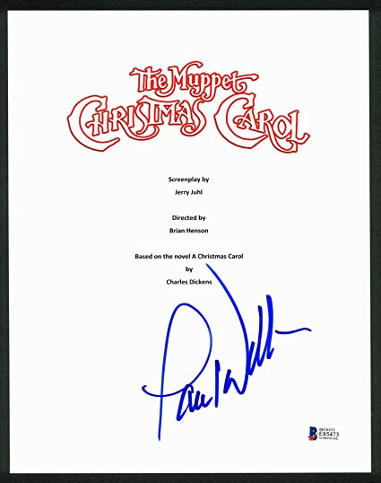paul williams signed autographed the muppet christmas carol movie script cover bas e85473 certified - Christmas Carol Script