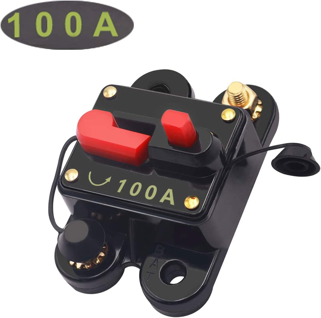 smseace 100A Manual Reset circuit breaker with wrench used for Car ...