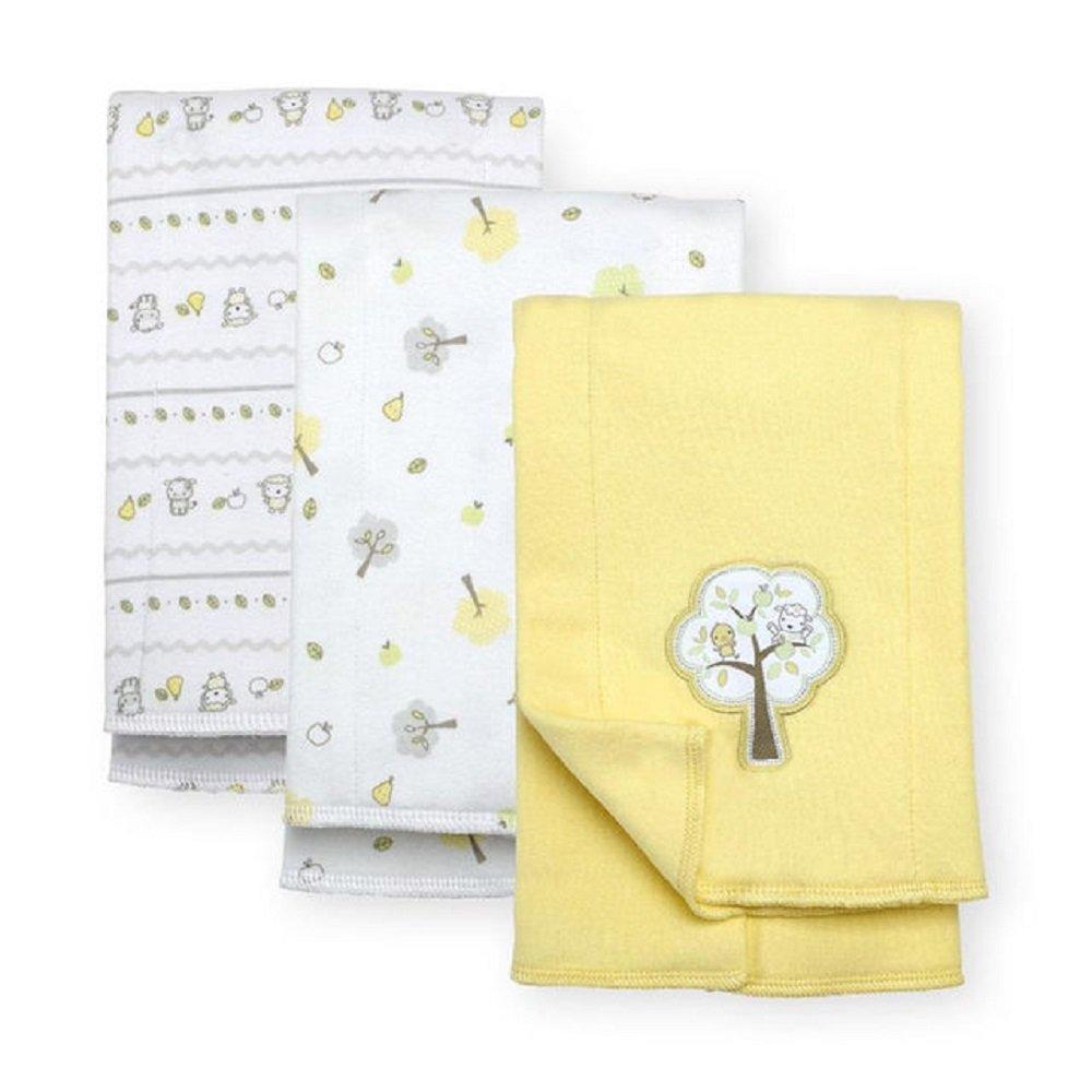 Koala Baby 3 Pack Interlock Burp Cloths - Yellow Tree by Kaola