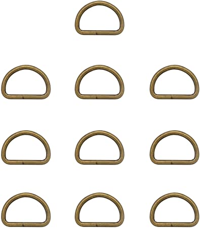 BIKICOCO Metal D-Rings Buckle 2 inch Non-Welded for Sewing DIY Silver Pack of 10