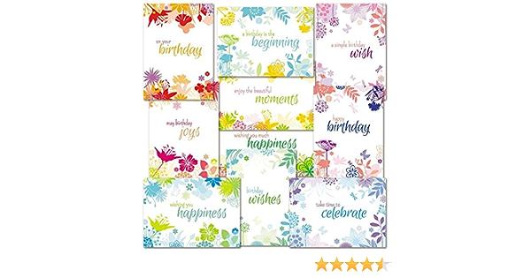 Garden Hotel Birthday Card 10 pack