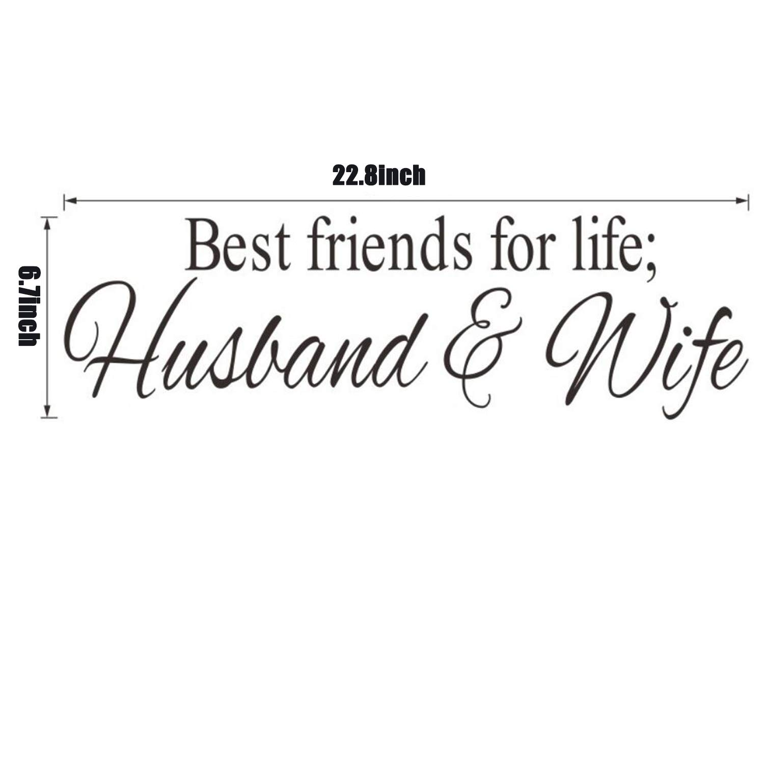 Amazon Com Dupetoner Best Friends For Life Husband Wife Quotes