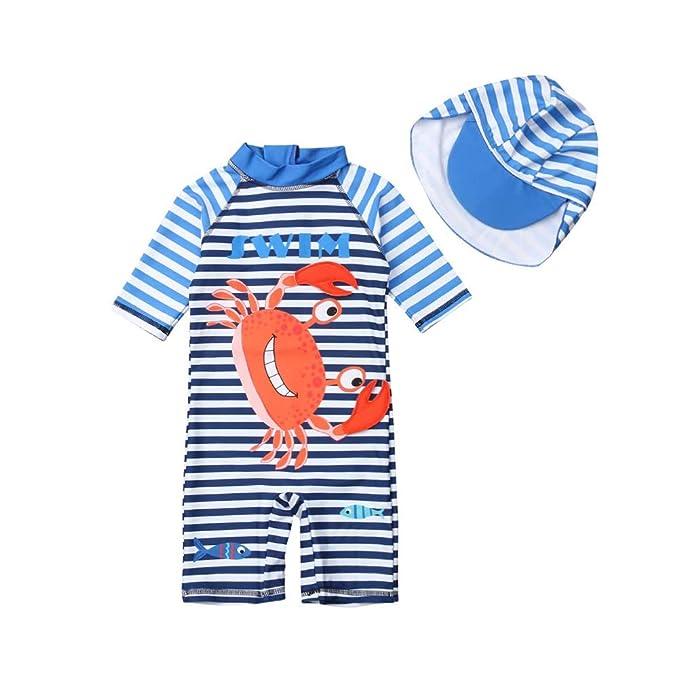 Amazon.com: Bañador de una pieza para niños con protección ...