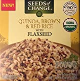Quinoa, Brown and Red Rice with Flaxseed 6 x 8.5 oz Pouches Organic