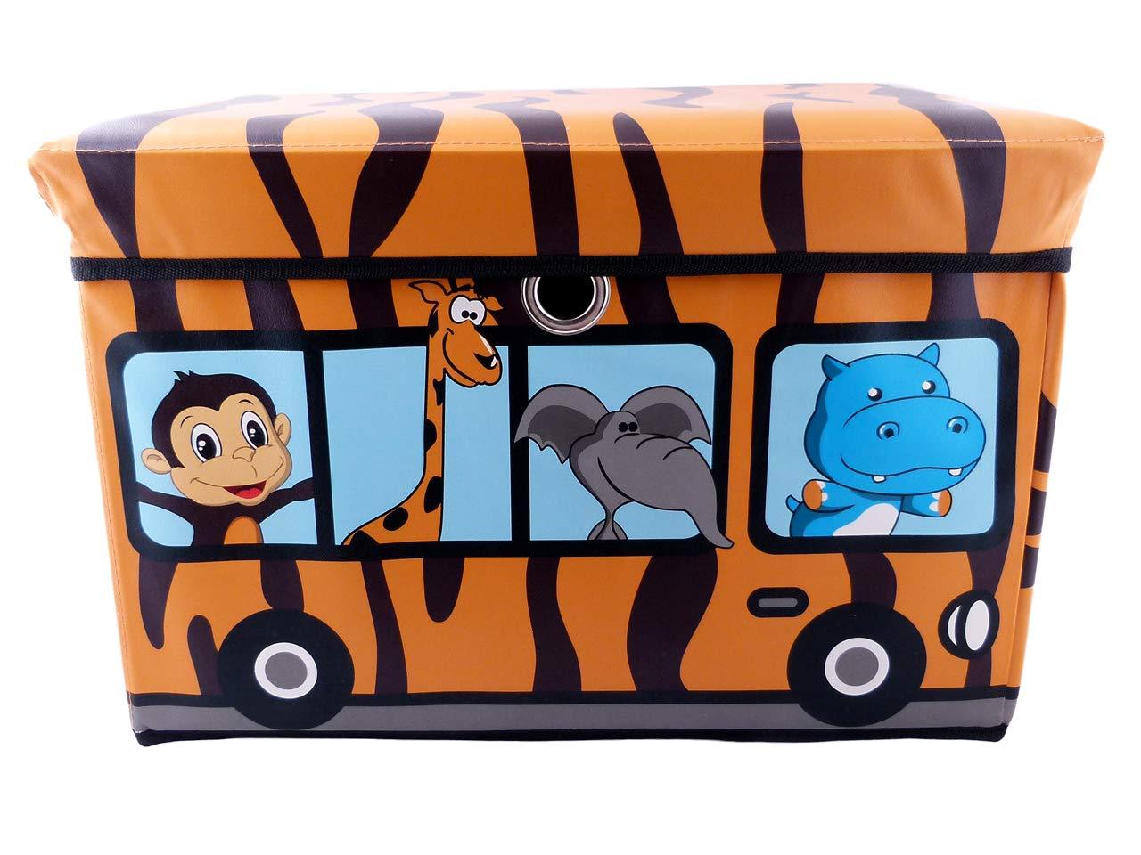 EMAKO Box Baule dei Giocattoli per Bambini Contenitore Giocattoli Cassapanca 47L Orange