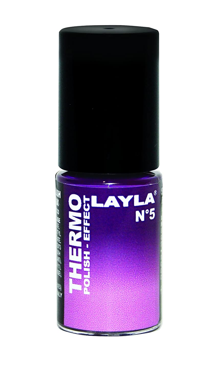 Layla Cosmetics Thermo Polish Effect Nagellack, 1er Pack 1259R23-005