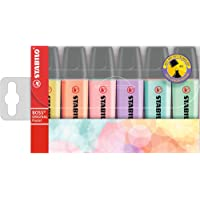Highlighter - STABILO BOSS ORIGINAL Pastel Wallet of 6 Assorted Colours