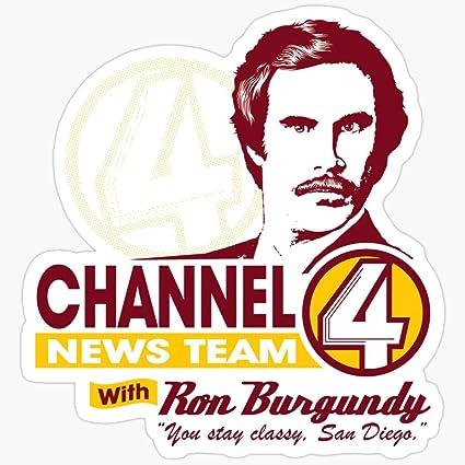 BeliNZStore Channel 4 News Team with Ron Burgundy! Pegatinas ...