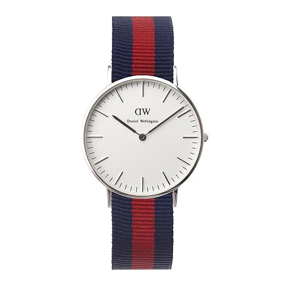 Daniel Wellington 0601DW - Reloj para mujer de Cuarzo con correa de Nailon  azul marino y rojo  Amazon.es  Relojes 20bfdc583d66