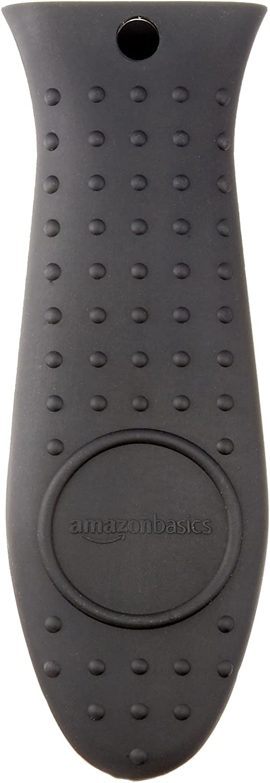 Basics Silicone Hot Skillet Handle Cover Holder, Black: Kitchen & Dining