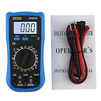LtrottedJ ANENG AN8202 - Multímetro digital (LCD, voltaje CC): Amazon.es: Bricolaje y herramientas