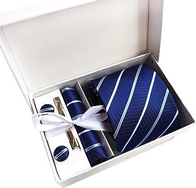 JUNGEN Corbata Estampada para Hombre con Raya Cuadros Punto Juego ...