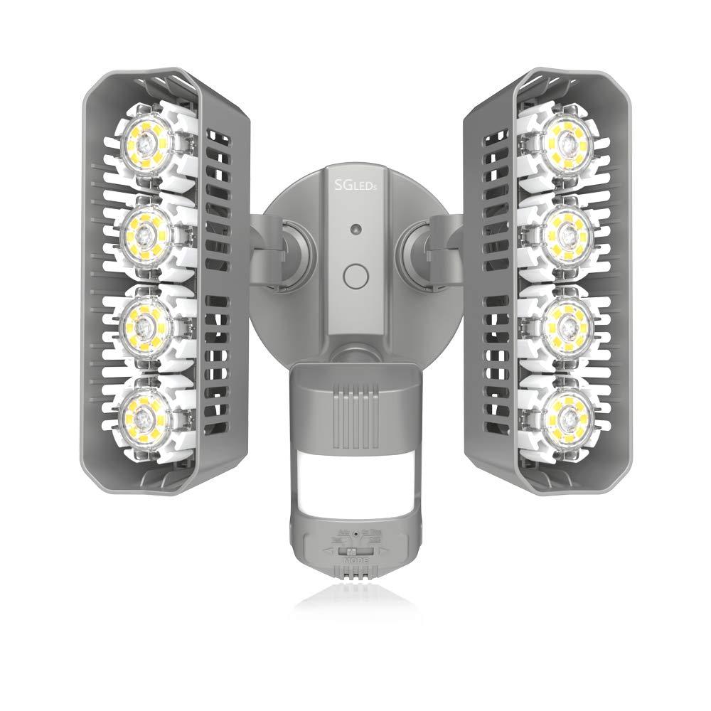 SGLEDS 36W 250W Equivalent Light , ETL Listed, Dusk to Dawn Security Lights, 3600lm LED Motion Sensor Lights, 5000K Outdoor Flood Lights, Rectangle