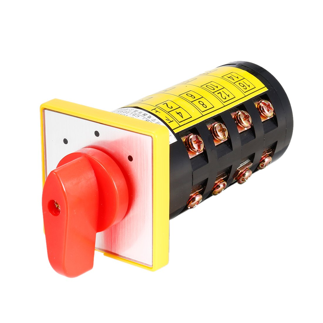 uxcell Changeover Switch 2 Position Rotary Selector Cam Switch Panel Mount 8 Terminals Latching Ui 550V Ith 40A