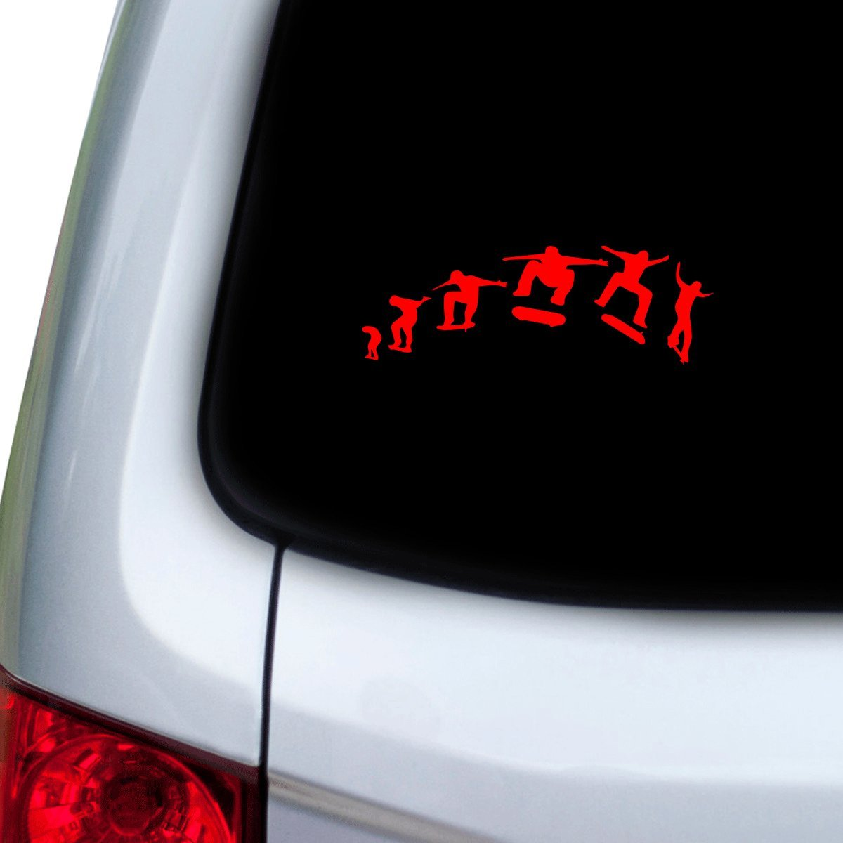 Hoods StickAny Car and Auto Decal Series Skateboard Sequence Sticker for Windows Red Doors