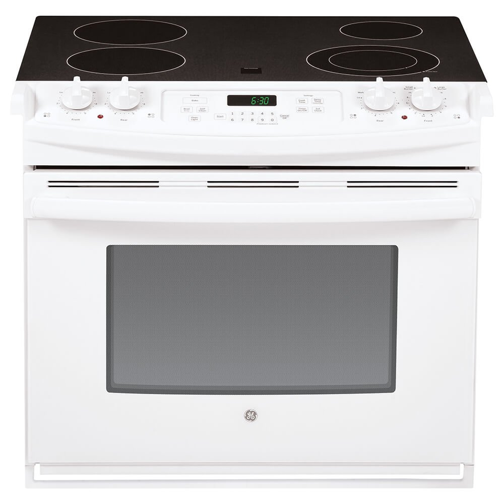 "GE JD630DFWW 30"" White Drop-In Electric Smoothtop Range"