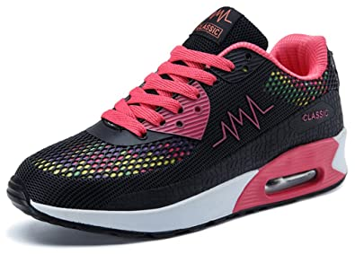 pretty nice 26873 e1a9d Ausom Women s Air Max Fashion Breathable Casual Sneakers Running Shoe Black