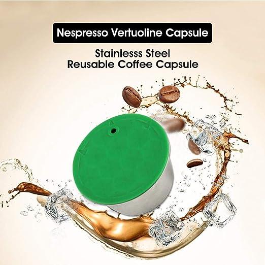 Volwco Cápsulas de café Reutilizables, cápsulas de café ...