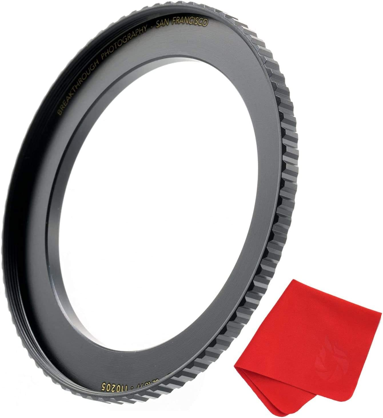 Made of CNC Machined Brass with Matte Black Electroplated Finish Breakthrough Photography 58mm to 82mm Step-Up Lens Adapter Ring for Filters