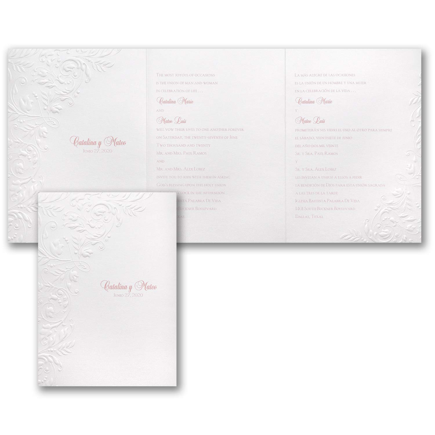 Amazon.com: 725pk Botanical Flourish - Invitation-Spanish ...