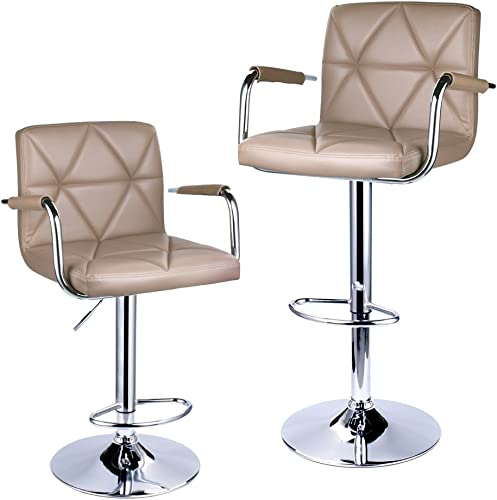 Leader Accessories Square Back Adjustable Bar Stool