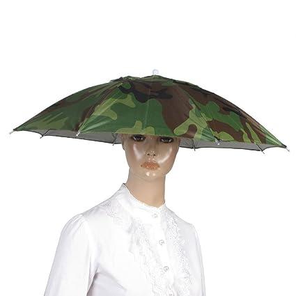 tmodd elástica patrón de camuflaje diadema Sun lluvia paraguas sombrero gorra