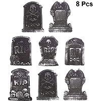 UPKOCH 8 Piezas de lápidas de Halloween decoración