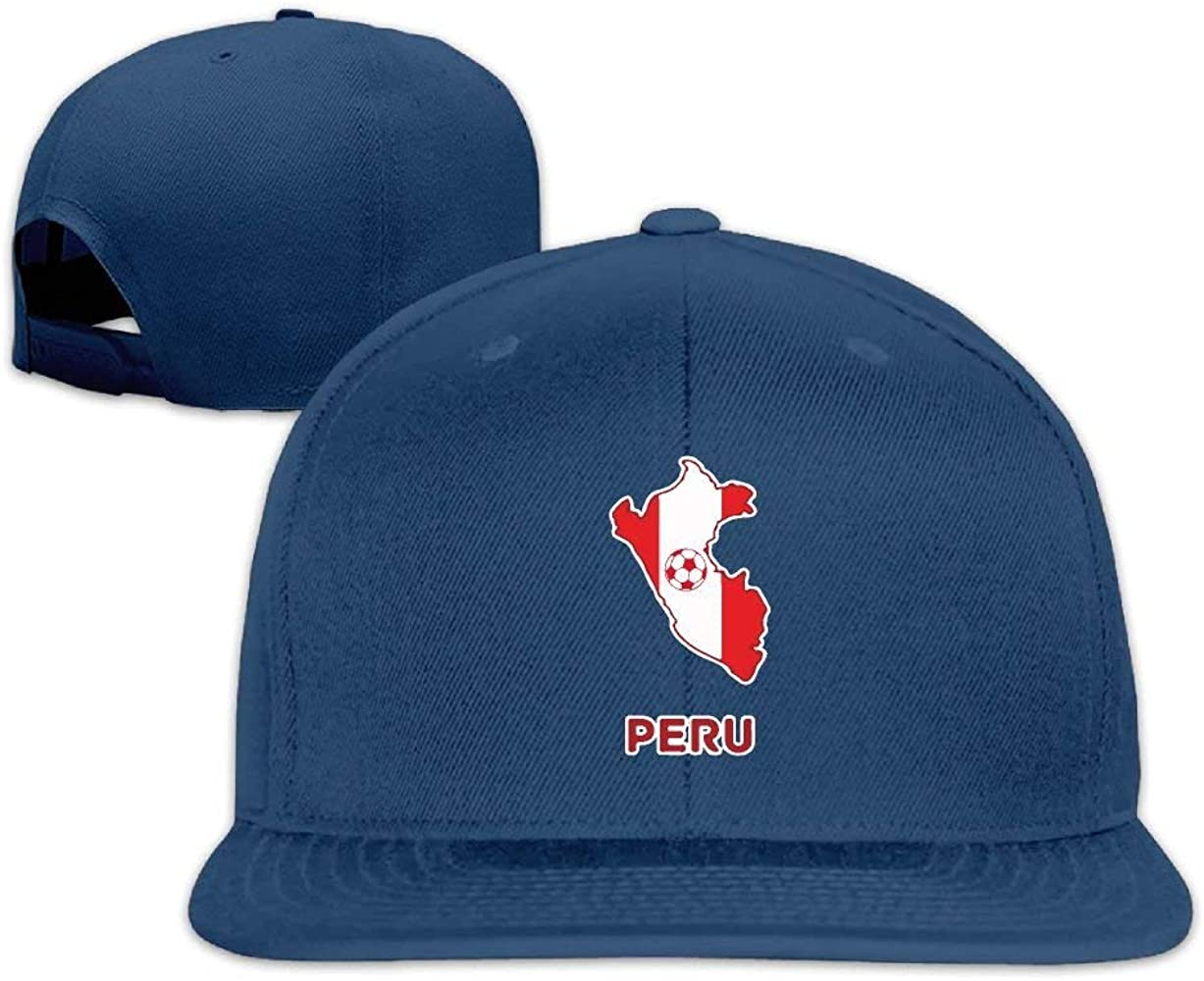 HHBB Gorras de béisbol Peru Map Soccer Plain Adjustable Hats Mens ...