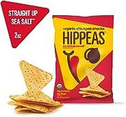 New HIPPEAS Organic Chickpea Snacks Straight Up Sea Salt Tortilla Chips | 2 ounce, 12 count | Vegan, Gluten-Free, Crunchy, Pr