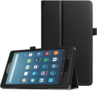 Screen Protector for Amazon Kindle Fire HD 8 2016 Tablet Slim Folio Cover Case