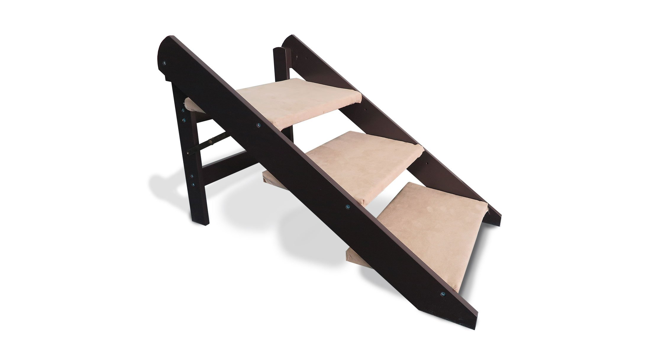 Furhaven Pet Convertible Pet Stairs or ramp Espresso