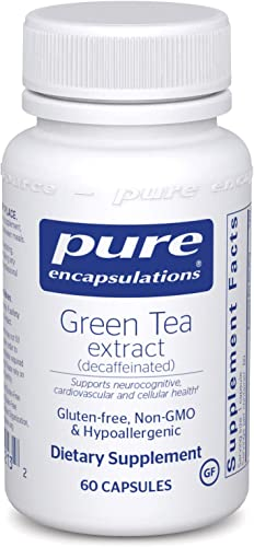 Pure Encapsulations – Green Tea Extract Decaffeinated – Hypoallergenic Antioxidant Support for All Cells in The Body* – 60 Capsules