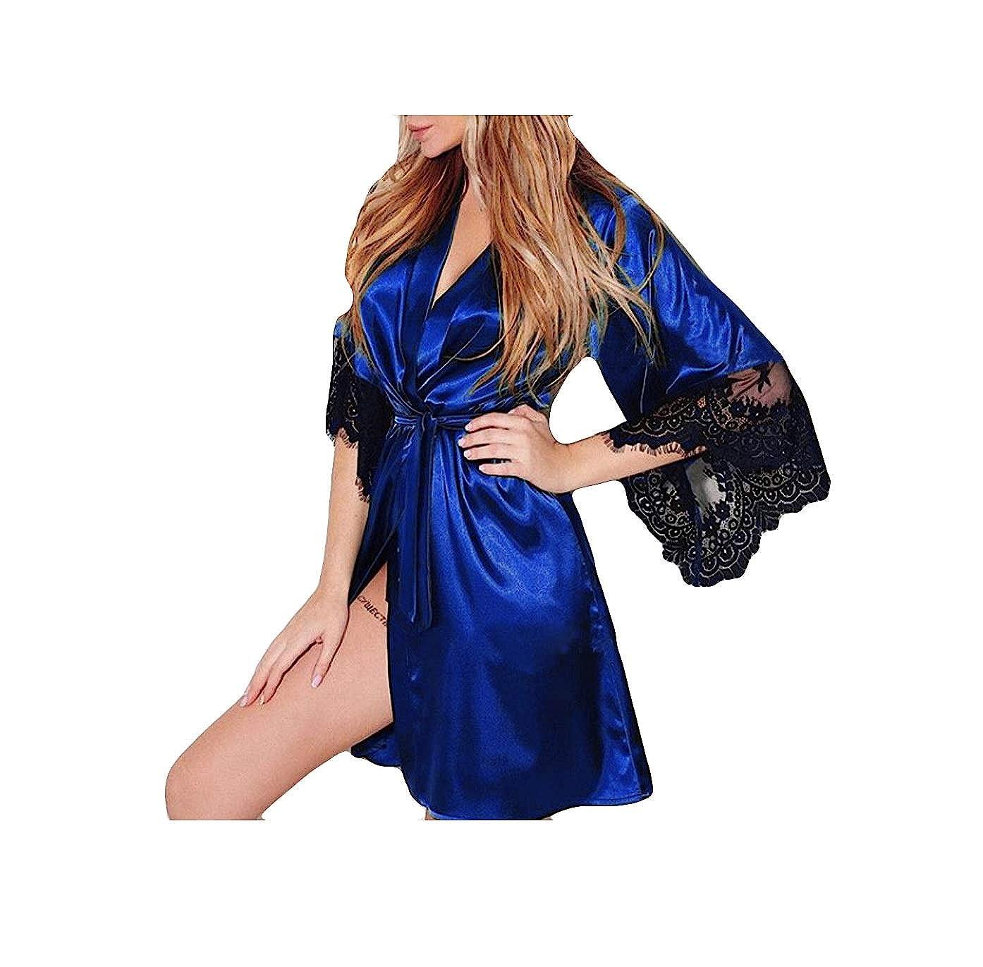 Gusspower Sexy Pijamas Vestido Lencería Largo Kimono para Mujer Ropa de Dormir Camisón de Encaje Código múltiple: Amazon.es: Ropa y accesorios