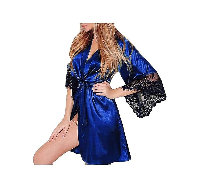 Para Gusspower Pijamas Kimono Vestido Largo Sexy Lencería Ropa Mujer n8OwPX0k