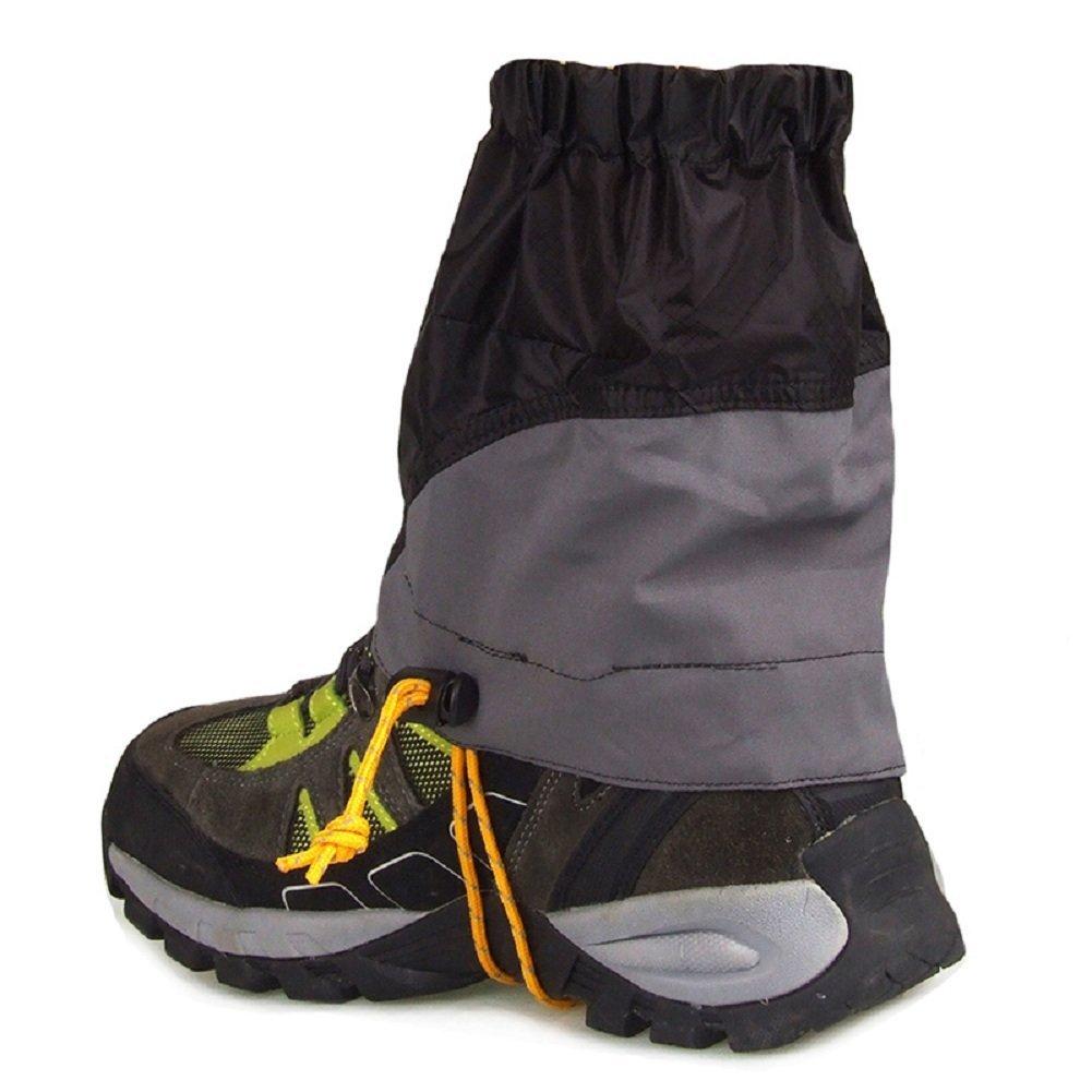 UHNT Outdoor Waterproof Essential Ankle Walking Gaiters (1 Pair) -Black by UHNT (Image #5)