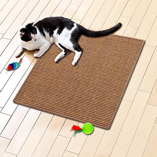 281c13b6214d44 Tapis griffoir casa pura® nougat pour chats   sisal résistant   produit  100% naturel
