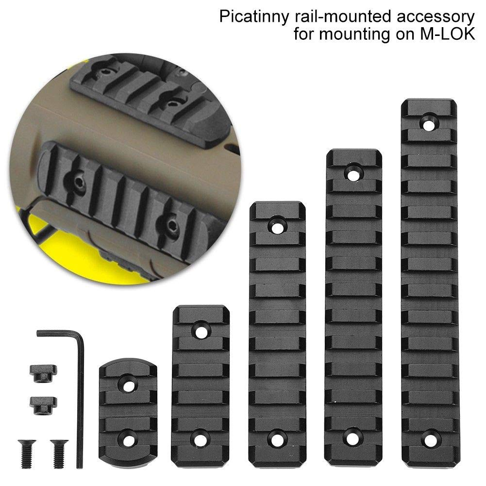 3-Slot 5-Slot 9-Slot 11-Slot 13-Slot 5 Packs Aluminum Picatinny Rails Section for M LOK Compatible Systems with 10 T-Nuts /& 10 Screws /& 1 Allen Wrench