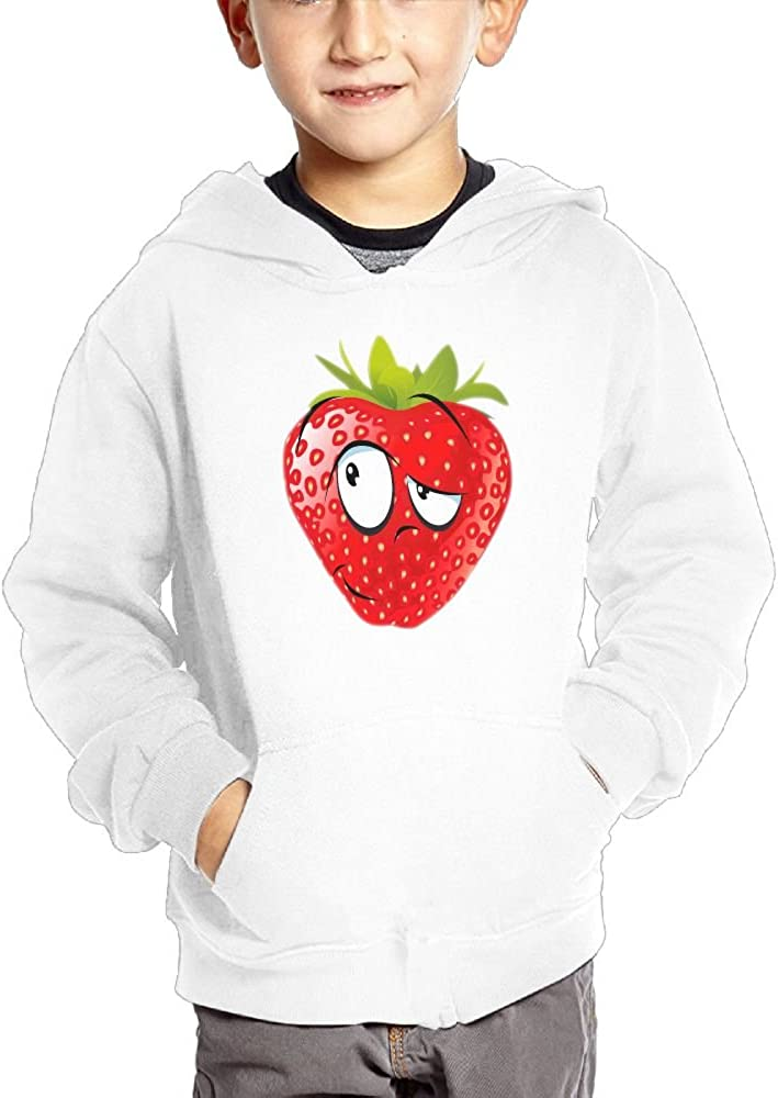 JasonMade colorful Strawberry With Funny Face Kids Fashion Popular Hooded Hoodies With Pocket