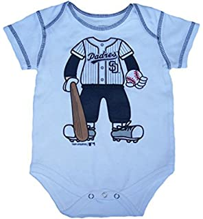48cdc43f San Diego Padres Player in Uniform Infant One Piece Size 3-6 Month Bodysuit  -