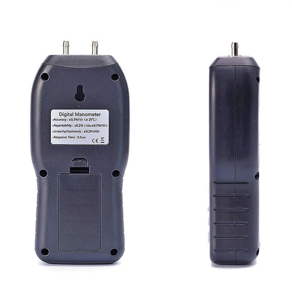 Digital Manometer Differential Pressure Gauge HVAC Gas Pressure Tester (Measuring Range /±20.68 kPa) Professional Air Pressure Meter
